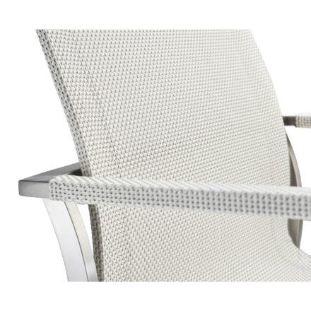 """Solpuri """"Studio"""" Freischwinger, Edelstahlgestell, Textilene pearl white"""