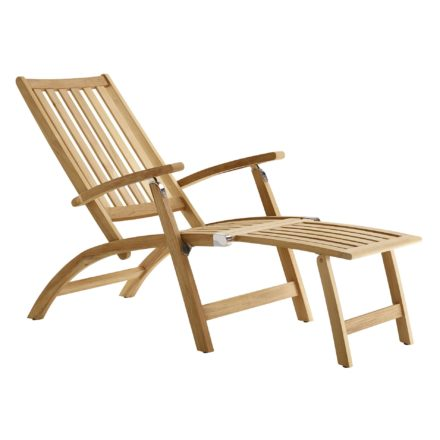 """Solpuri """"Windsor"""" Deckchair mit Hocker, aus Teakholz"""