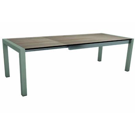 """Stern Ausziehtisch """"Standard"""", Gestell Aluminium graphit, Tischplatte HPL Tundra braun"""