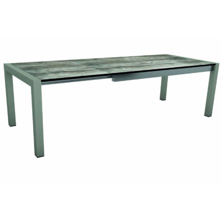 "Stern Ausziehtisch ""Standard"", Gestell Aluminium graphit, Tischplatte HPL Tundra grau"