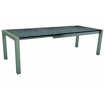 "Stern Ausziehtisch ""Standard"", Gestell Aluminium graphit, Tischplatte HPL Zement"