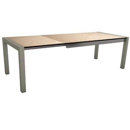 "Stern Ausziehtisch ""Standard"", Gestell Aluminium graphit, Tischplatte HPL Sahara"