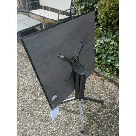 Stern Bistrotisch, Gestell Aluminium anthrazit, Tischplatte HPL Smoky, quadratisch
