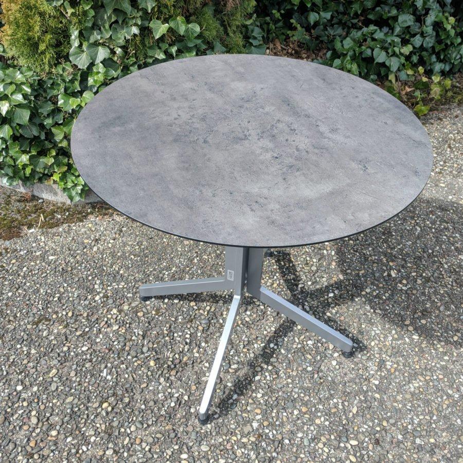 Stern Bistrotisch Aluminium Hpl Tischplatte Rund
