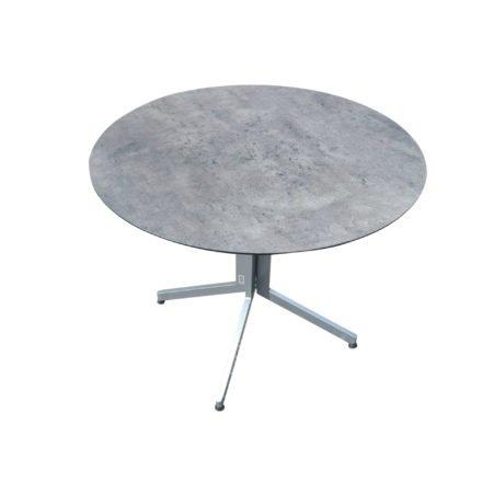 Stern Bistrotisch, Gestell Aluminium graphit, Tischplatte HPL Zement, rund