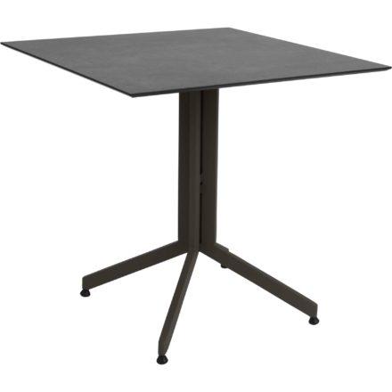 Stern Bistrotisch, Gestell Aluminium taupe, Tischplatte HPL Zement