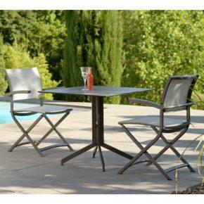 """Stern Gartenmöbel-Set mit Stuhl """"Camillo"""" und Bistrotisch Aluminium/HPL"""