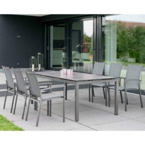 """Stern Gartenmöbel-Set mit Stuhl """"Evoee"""" und Gartentisch Aluminium/HPL"""