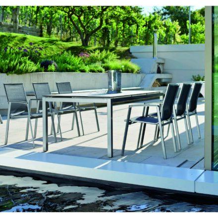 """Stern Gartenmöbel-Set mit Stuhl """"New Top"""" und Gartentisch Aluminium/HPL"""