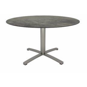 Stern Gartentisch, Gestell Edelstahl, Tischplatte HPL Zement