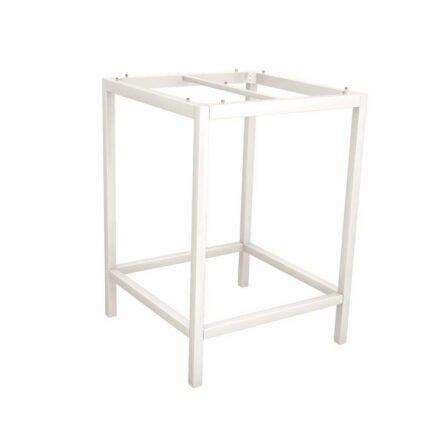 Stern Bartisch/Stehtisch, Gestell Aluminium weiß