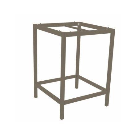 Stern Bartisch/Stehtisch, Gestell Aluminium taupe