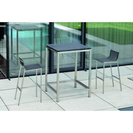 Stern Tischsystem Bartisch, Gestell Edelstahl, Tischplatte HPL Nitro