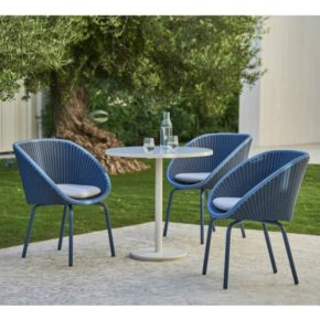 """Cane-line Gartenmöbel-Set mit Stuhl """"Peacock"""" und Tisch """"Go"""""""