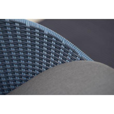 "Cane-line Gartensessel ""Peacock"", Gestell Aluminium dunkelblau, Geflecht blau/dunkelblau"