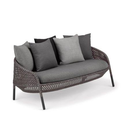 "DEDON 2-Sitzer Sofa ""AHNDA"", Gestell Aluminium, DEDON Faser graphite"