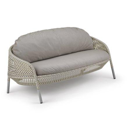 "DEDON 2-Sitzer Sofa ""AHNDA"", Gestell Aluminium, DEDON Faser weiß-quartz"