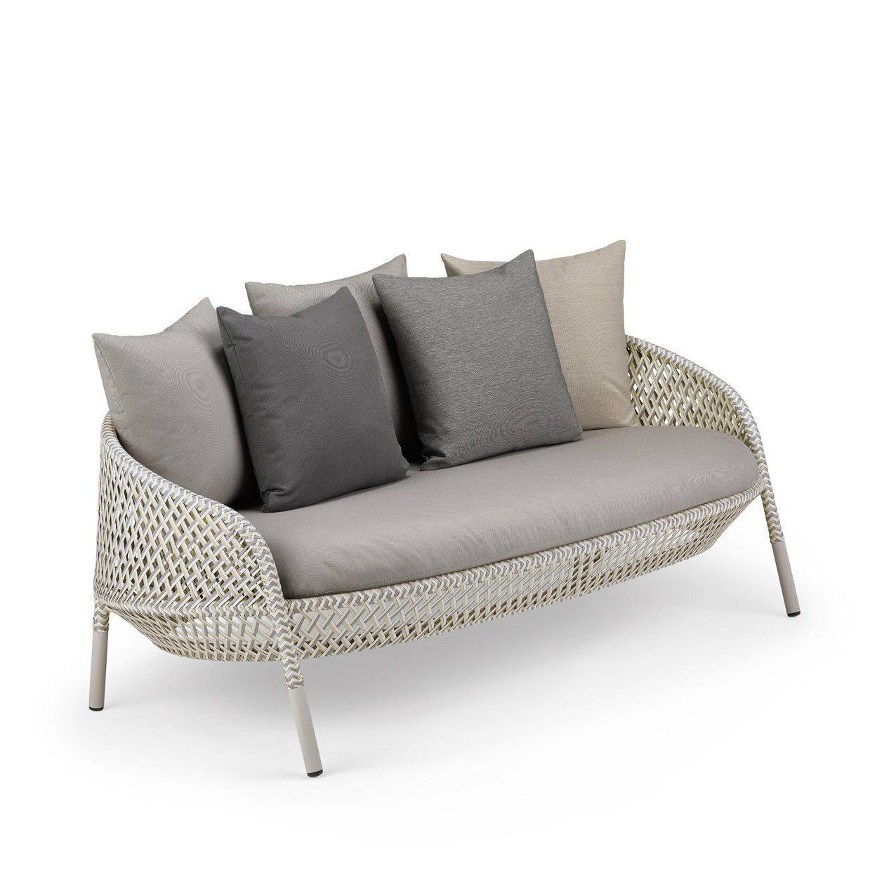 """Künstlerisch Hochlehner Sofa Foto Von Dedon 2-sitzer """"ahnda"""", Gestell Aluminium, Dedon Faser"""