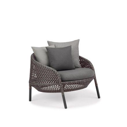 "DEDON Loungesessel ""AHNDA"", Gestell Aluminium, DEDON Faser graphite"