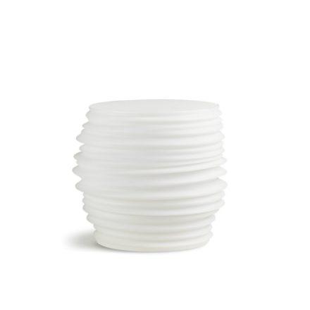"""DEDON Beistelltisch """"BABYLYN"""" aus Polyethylen, Farbe off white"""
