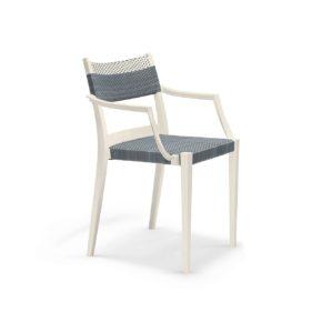 """DEDON Armlehnstuhl """"PLAY"""", Gestell: Polypropylen in der Farbe chalk, Sitz- und Rückenfläche DEDON Faser stone und chalk"""