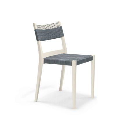 """DEDON Essstuhl """"PLAY"""", Gestell: Polypropylen in der Farbe chalk, Sitz- und Rückenfläche DEDON Faser stone und chalk"""