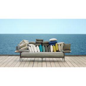 "DEDON 3er Sofa ""RAYN"" mit diversen Dekokissen"
