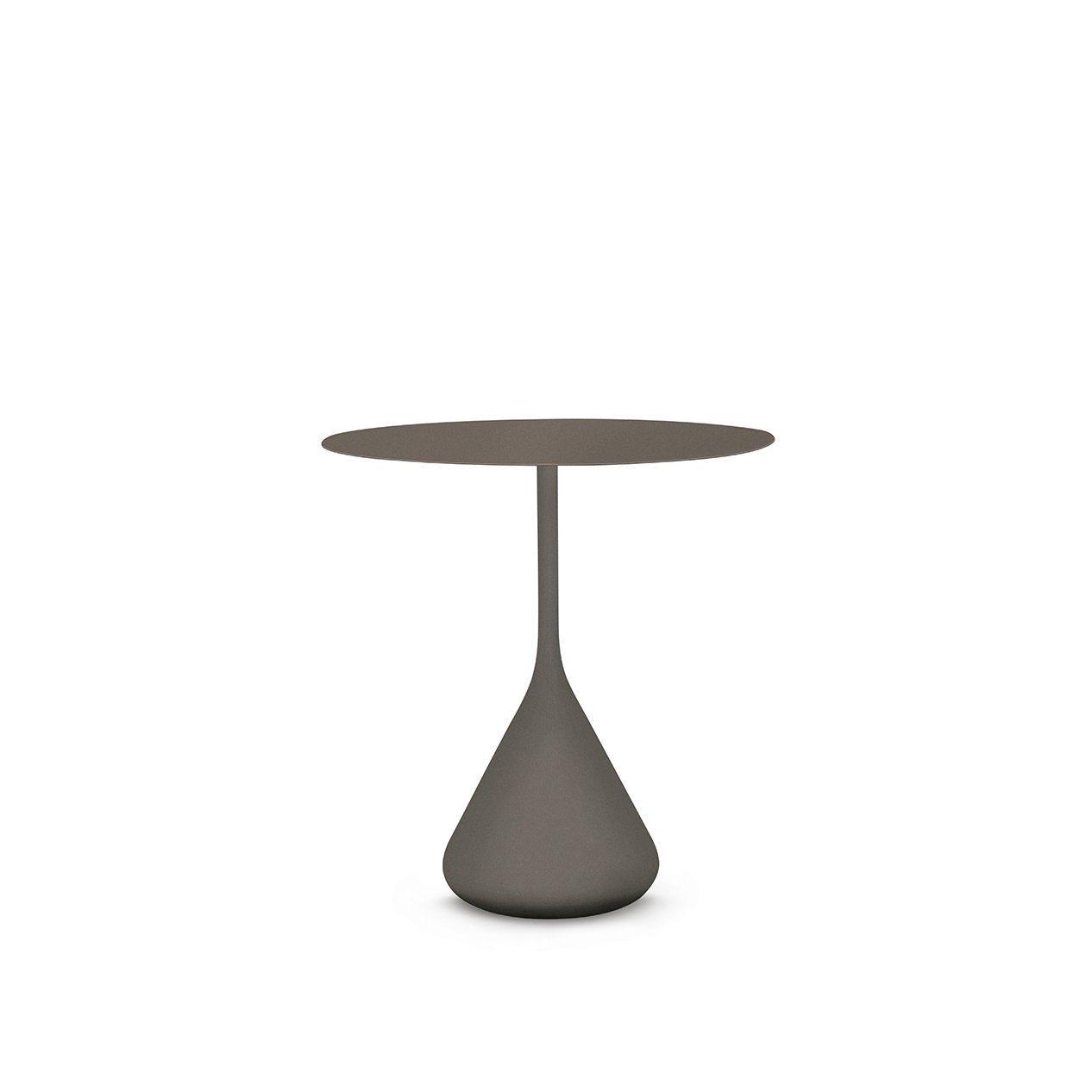 """DEDON Esstisch 70 cm """"SATELLITE"""", Aluminium mit HPL-Tischplatte, Farbe vulcano"""