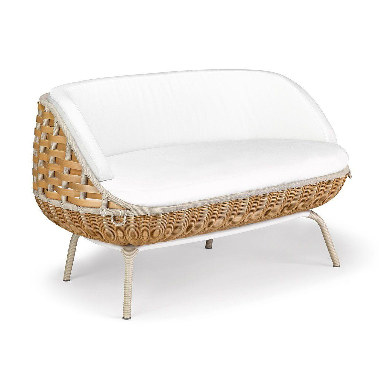 """DEDON 2er-Sofa """"SWINGREST"""", Gestell Aluminium, DEDON Faser natural"""