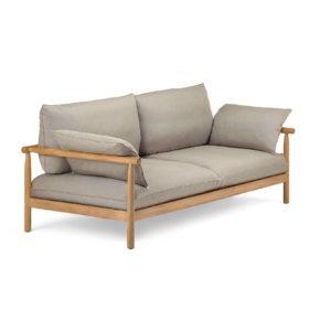 """Loungesofa 2-Sitzer """"TIBBO"""" von DEDON, Gestell Teakholz, Bespannung DEDON Faser inkl. Sitz-, Rücken- und Seitenkissen"""