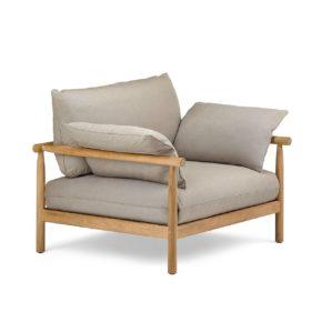 """Loungesessel XL """"TIBBO"""" von DEDON, Gestell Teakholz, Bespannung DEDON Faser inkl. Sitz-, Rücken- und Seitenkissen"""