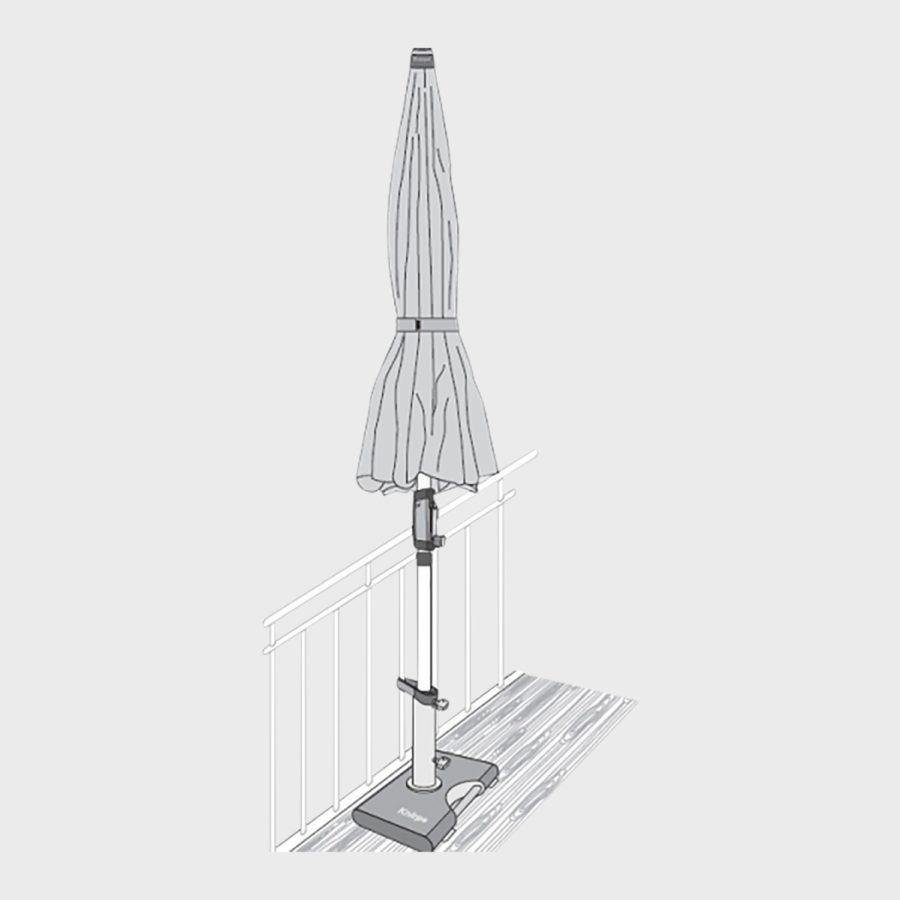 knirps silver automatic sonnenschirm marktschirm. Black Bedroom Furniture Sets. Home Design Ideas