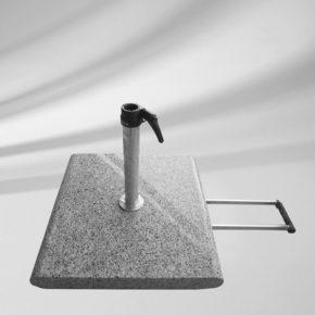 Granitsockel Z (Abb. inkl. Standrohr Z), 55 kg, mit Rollen und Handgriff, von GLATZ (© by GLATZ AG, Schweiz)