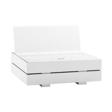 "Solpuri ""Boxx"" Basis-Modul S mit Top-Modul Sitz-Rücken (hier ohne Polster), Aluminium weiss"