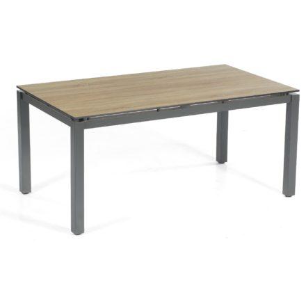 "SonnenPartner Tisch 160x90 cm ""Base"", Gestell Aluminium anthrazit, Tischplatte HPL Eiche sägerau"