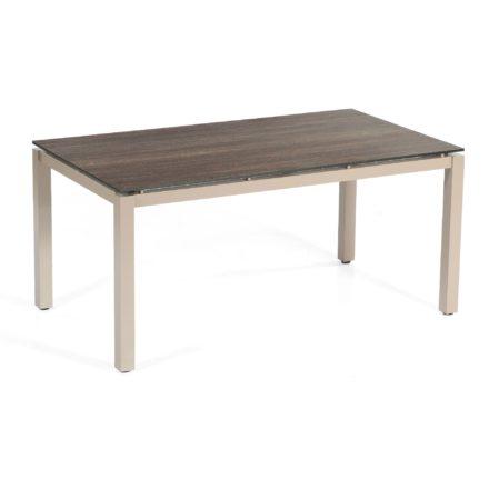 """SonnenPartner Tisch 160x90 cm """"Base"""", Gestell Aluminium champagner, Tischplatte HPL Mali wenge"""