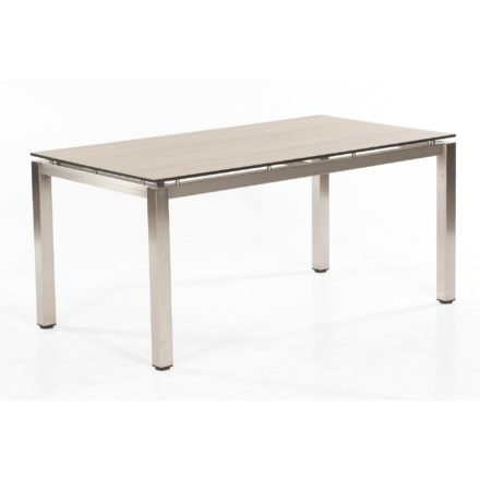 """SonnenPartner Tisch 160x90 cm """"Base"""", Tischgestell Edelstahl, Tischplatte HPL eiche sägerau"""