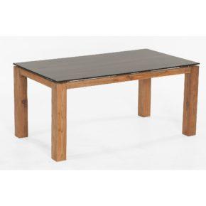 """SonnenPartner Tisch """"Base"""" 160x90 cm, Tischgestell Old Teak, HPL Tischplatte Compact mali wenge"""