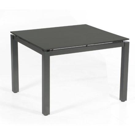 "SonnenPartner Tisch 90x90 cm ""Base"", Gestell Aluminium anthrazit, Tischplatte HPL anthrazit"