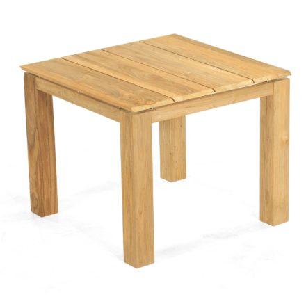"""SonnenPartner Tisch 90x90 cm """"Base"""", Tischgestell Pure Teak, Tischplatte Solid Old Teak natur"""