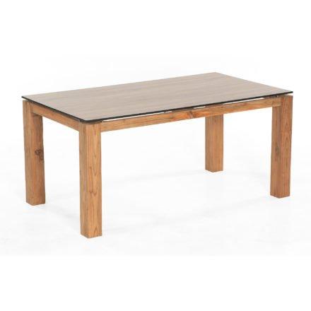 "SonnenPartner Tisch ""Base"" 160x90 cm, Tischgestell Old Teak, HPL Tischplatte Compact eiche sägerau"