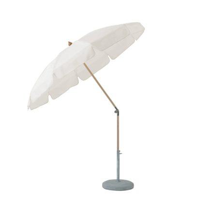 """Sonnenschirm """"ALEXO®"""", rund, mit Volant, von GLATZ, Dessin 404 - White (© by GLATZ AG, Schweiz)"""
