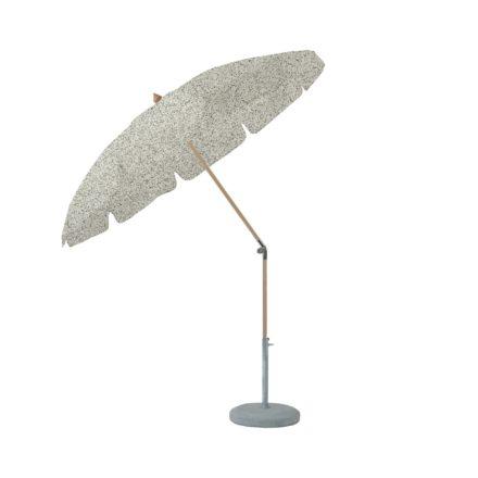 """Sonnenschirm """"ALEXO® """", rund, mit Volant, von GLATZ, Dessin 500 - Plaster (© by GLATZ AG, Schweiz)"""