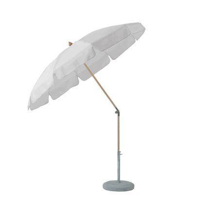 """Sonnenschirm """"ALEXO® """", rund, mit Volant, von GLATZ, Dessin 510 - White (© by GLATZ AG, Schweiz)"""