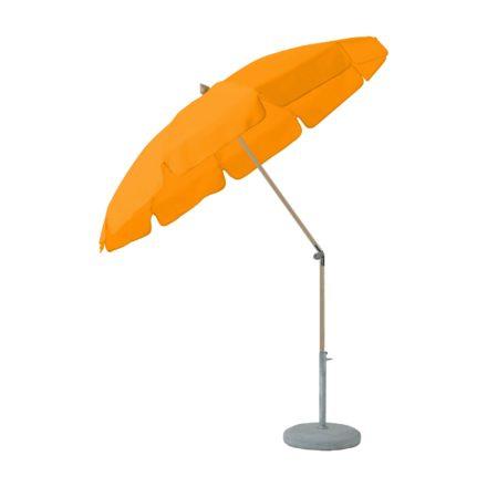 """Sonnenschirm """"ALEXO® """", rund, mit Volant, von GLATZ, Dessin 512 - Mandarin (© by GLATZ AG, Schweiz)"""