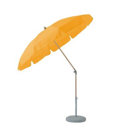"""Sonnenschirm """"ALEXO® """", rund, mit Volant, von GLATZ, Dessin 514 - Corn (© by GLATZ AG, Schweiz)"""