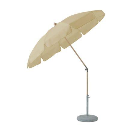 """Sonnenschirm """"ALEXO® """", rund, mit Volant, von GLATZ, Dessin 526 - Bamboo (© by GLATZ AG, Schweiz)"""