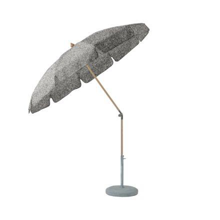 """Sonnenschirm """"ALEXO® """", rund, mit Volant, von GLATZ, Dessin 652 - Silver (© by GLATZ AG, Schweiz)"""