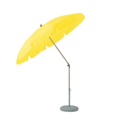 """Sonnenschirm """"ALEXO® """", rund, mit Volant, von GLATZ, Dessin 680 - Pineapple (© by GLATZ AG, Schweiz)"""