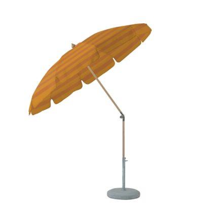 """Sonnenschirm """"ALEXO® """", rund, mit Volant, von GLATZ, Dessin 683 - Sahara Stripes (© by GLATZ AG, Schweiz)"""